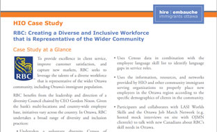 RBC: Creating a Diverse and Inclusive Workforce that is Representative of the Wider Community